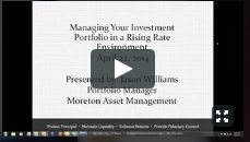 Managing Your Investment Portfolio in a Rising Rate Environment Video