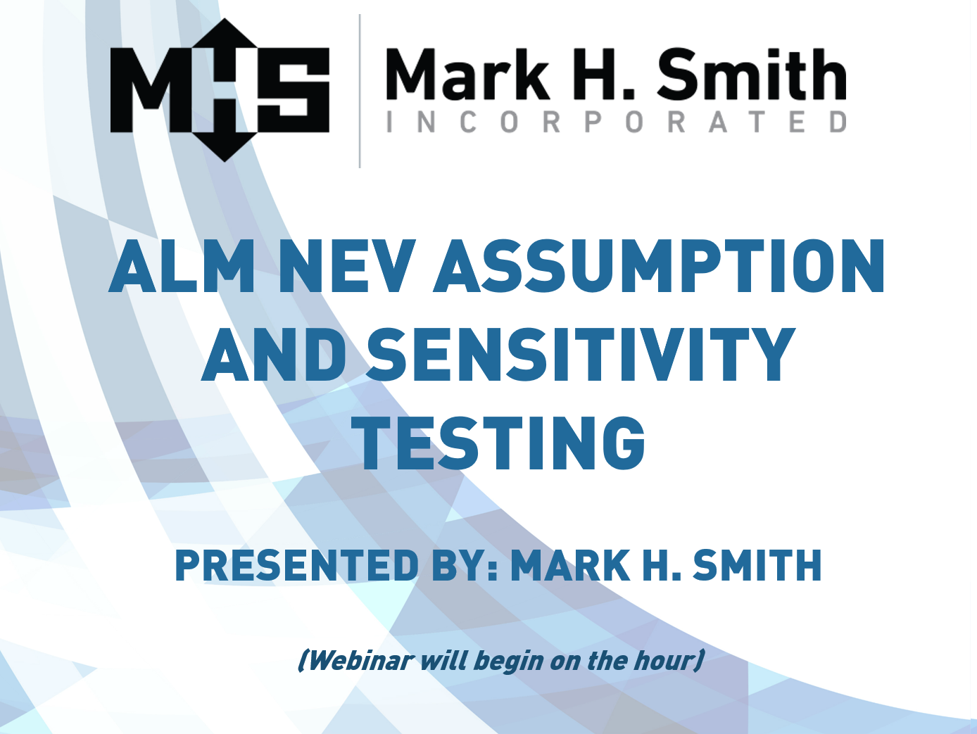 ALM NEV Assumption and Sensitivity Testing