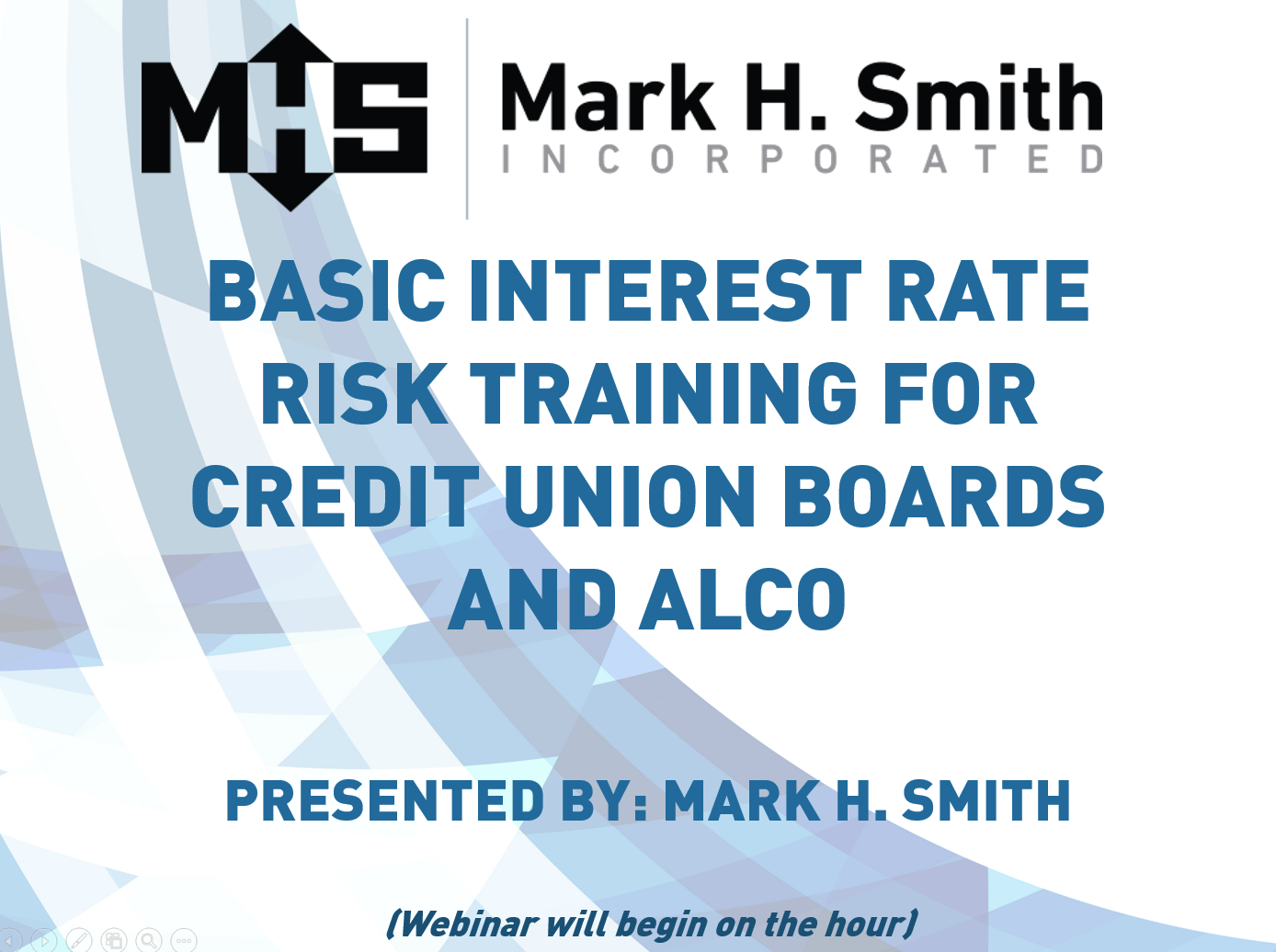 Basic Interest Rate Risk Training for Credit Union Boards and Alco 2 Webinar