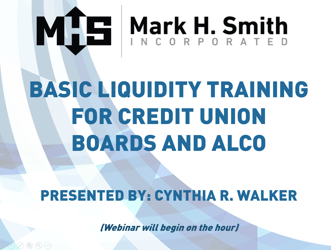 Basic Liquidity Training for Credit Unions Boards and ALCO